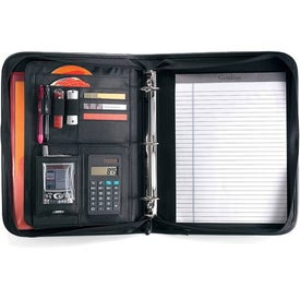 Global Calculator Ringfolio Imprinted with Your Logo