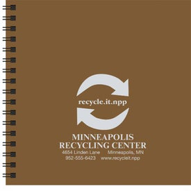 Going Green Journal Imprinted with Your Logo