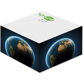 "Half Cube Earth Friendly Adhesive Notepads (275 Sheets, 3"" x 3"")"
