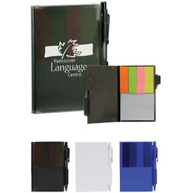 Hardcover Flag Notepad With Pen