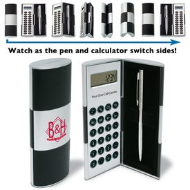 Illusion Series Big Calc/Pen Set for Your Company