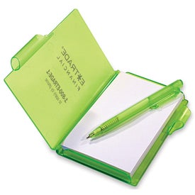 Jotter Pad with Pen Branded with Your Logo