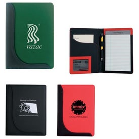 Branded Jr. Executive L-Curve Padfolio