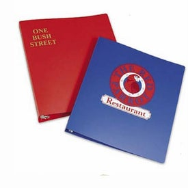 """Junior Poly Plastic Ring Binder with Rings (1"""")"""