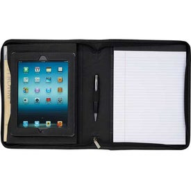 Kenneth Cole Borders Zippered Padfolio Imprinted with Your Logo