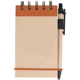Printed Kraft Jotter with Pen