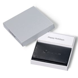 Logo Leather Business Card Holder