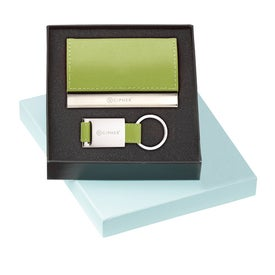 Leather Card Holder and Key Ring Set with Your Logo