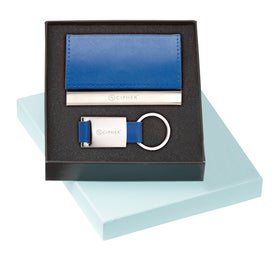 Leather Card Holder and Key Ring Set for your School
