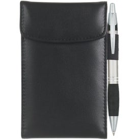 Leather Look Jotter with Your Slogan