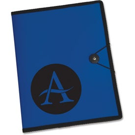 Customized Letter Size Portfolio with Closure Strap and Pen