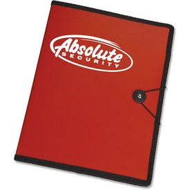 Letter Size Portfolio with Closure Strap and Pen with Your Slogan