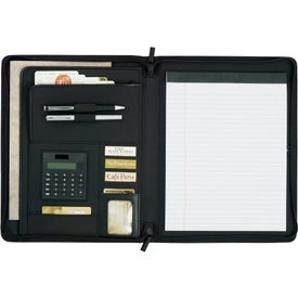 Links Zippered Padfolio Printed with Your Logo