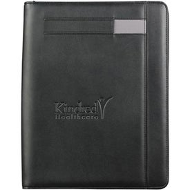 Advertising Links Zippered Padfolio