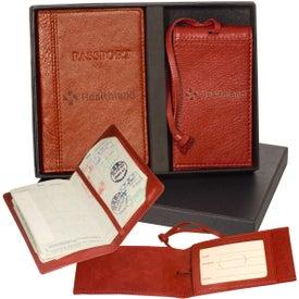 Custom Lloyd Harbor Passport and Magnetic Luggage Tag Set