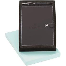 Branded Magnolia Ballpoint and Vinyl Journal Set