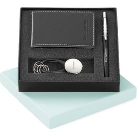 Magnolia Ballpoint Vinyl Jotter and Key Ring Set with Your Logo