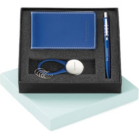 Printed Magnolia Ballpoint Vinyl Jotter and Key Ring Set