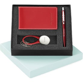 Magnolia Ballpoint Vinyl Jotter and Key Ring Set for Promotion