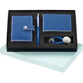 Personalized Magnolia Pen, Card Holder, Jotter, and Keyring Set