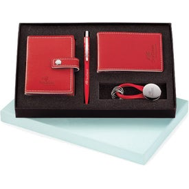Magnolia Pen, Card Holder, Jotter, and Keyring Set for Your Company