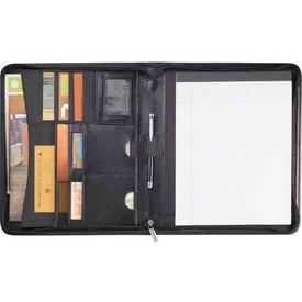 Manhattan Zippered Padfolio Branded with Your Logo