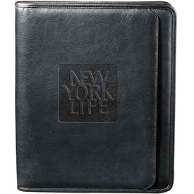Personalized Manhattan Zippered Padfolio