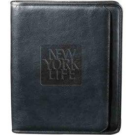 Personalized Manhattan Zippered Padfolio