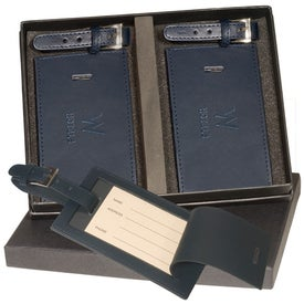Marquis Two Luggage Tag Set Imprinted with Your Logo