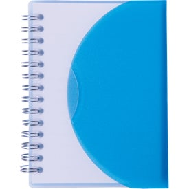 Medium Spiral Curve Notebook with Your Slogan