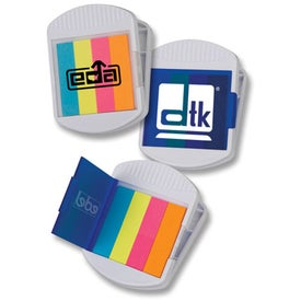 Imprinted Magnetic Clip with Sticky Flags