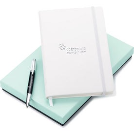 Melody 2-Tone Ballpoint and Journal Set - Whimsical for Customization