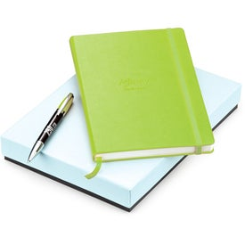 Advertising Melody 2-Tone Ballpoint and Journal Set - Whimsical