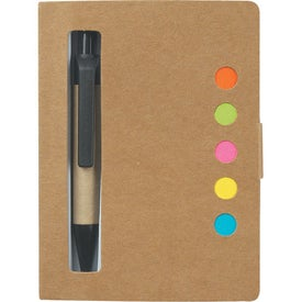 Personalized Eco-Friendly Memo Case With Sticky Flags & Pen