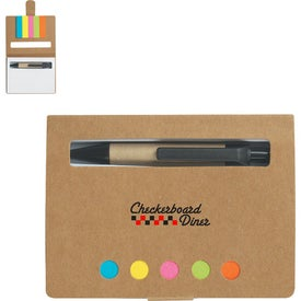 Company Eco-Friendly Memo Case With Sticky Flags & Pen