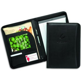 MetroTek Zippered Padfolio for Your Organization
