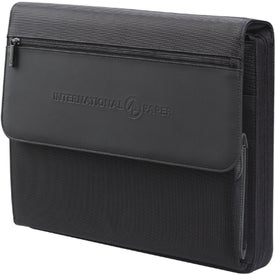 MicroTek Deluxe Zippered Padfolio for Customization