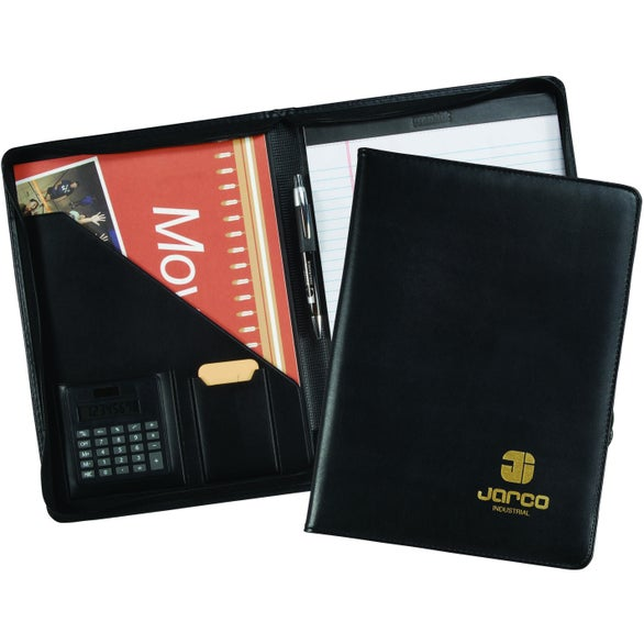 Milan Zippered Pad Folder with Calculator