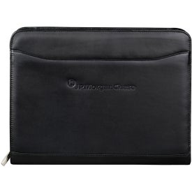 Millennium Leather Zippered Padfolio with Your Logo