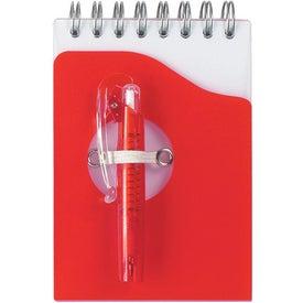 Custom Mini Jotter Pad with Shorty Pen