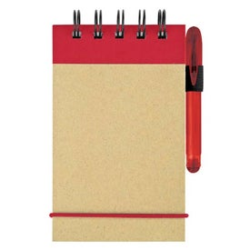 Mini Recycled Color Spine Pocket Jotter for Your Company