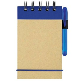 Printed Mini Recycled Color Spine Pocket Jotter