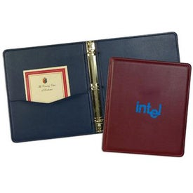 Leather Substitute Monaco Binder with Your Slogan
