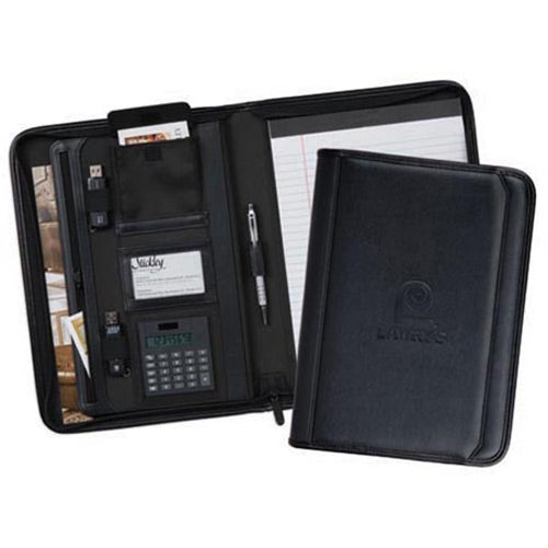 Newcastle Zippered Padfolio With Calculator