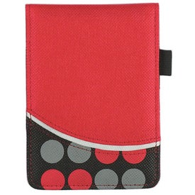 Non Woven Polk A Dot Jotter Imprinted with Your Logo