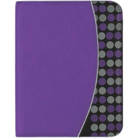 Non Woven Polk A Dot Padfolio with Your Logo