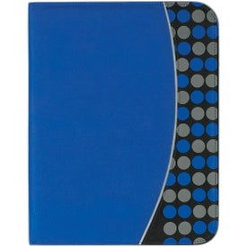 Non Woven Polk A Dot Padfolio Printed with Your Logo