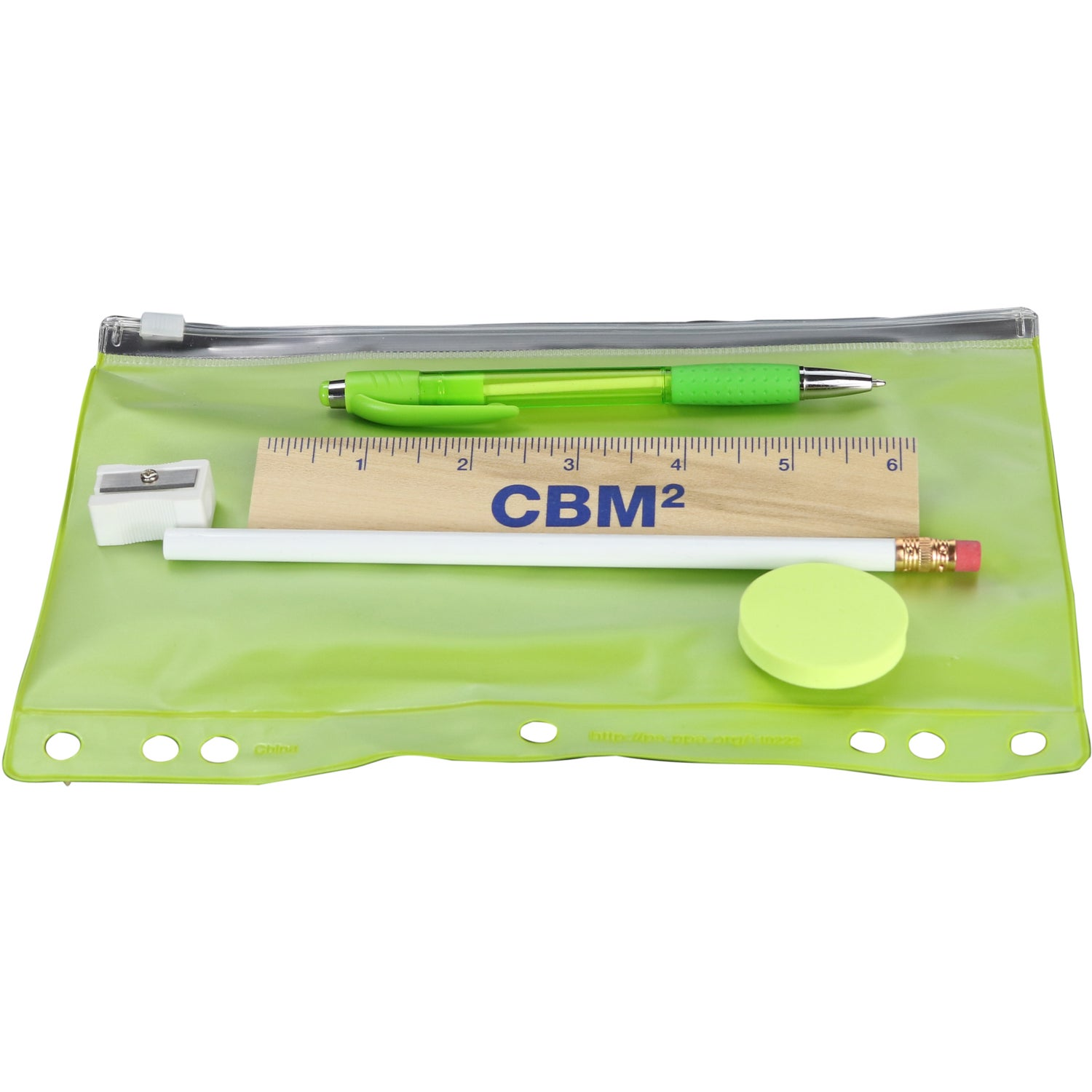 Promotional Pencil Pouch School Kits with Custom Logo for $1.36 Ea.