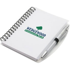 Hardcover Notebook and Pen Set Imprinted with Your Logo