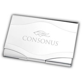 Ovary Tone Silver Metal Business Card Case